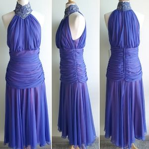 Tadashi Ruched Maxi Gown